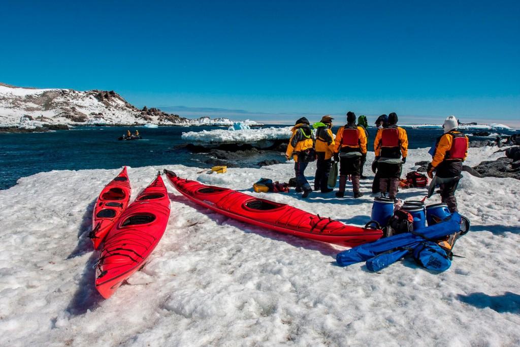 Kayaking, a greta way to see wildlife in Antarctica