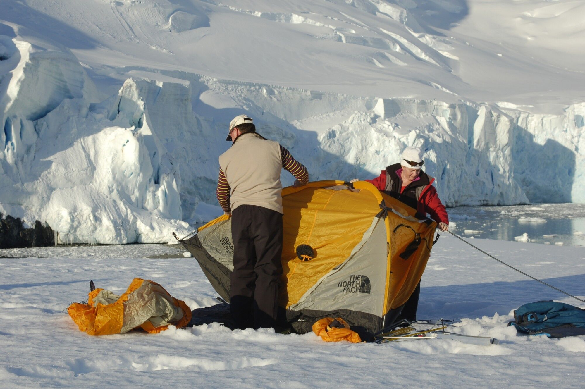 camping in antarctica, an additional option  on some polar expedition cruises