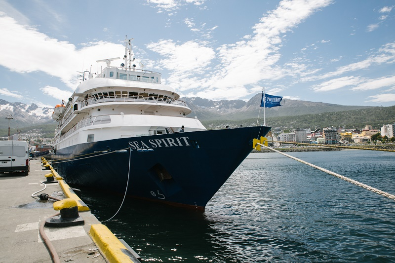 Antarctic Cruise Vessel Sea Spirit ready to go in Ushuaia