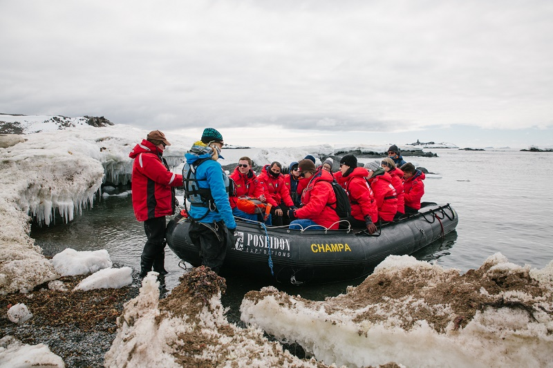 taking zodiac tour on a cruise to antarctica