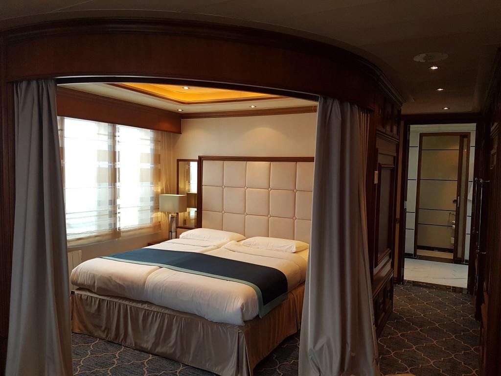 bedroom on a luxury polar cruise ship