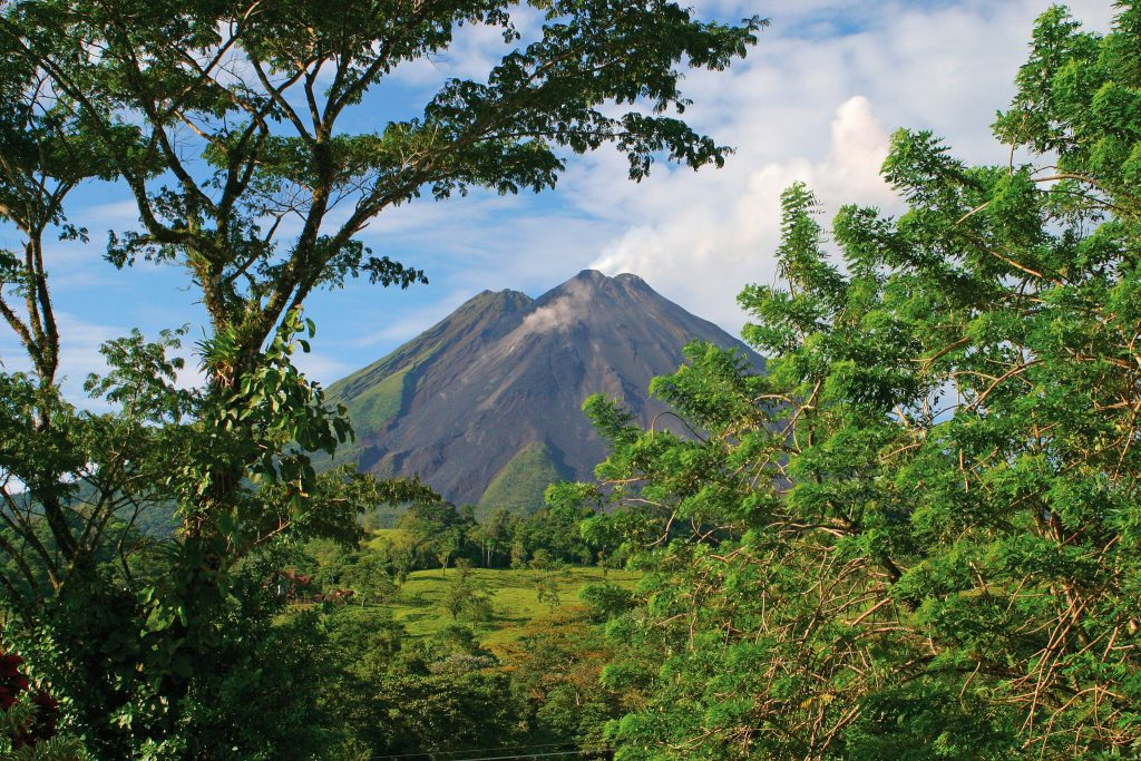 Arenal National Park, a spectacular area of natural beauty