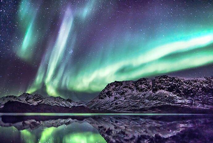 northern lights in scandanavia