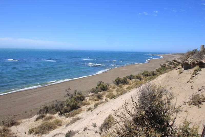 beautiful beaches on Argentina's Valdes Peninsula