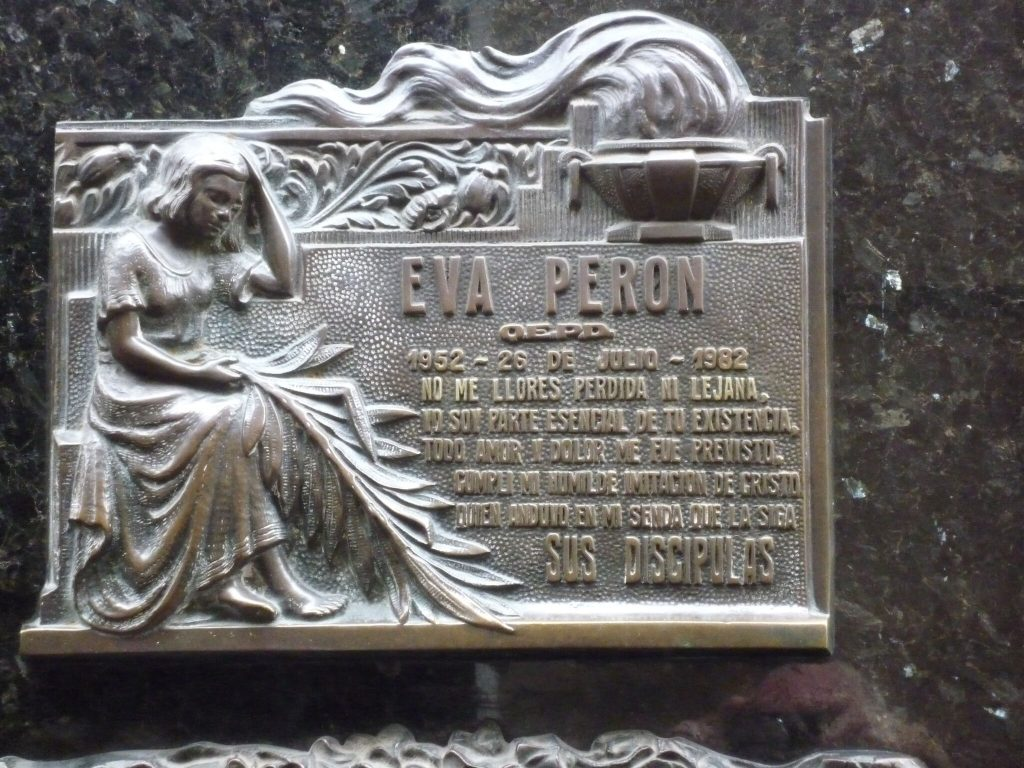 Eva-Peron's final resting place in Buenos Aires
