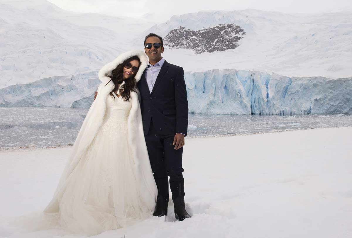 White Wedding In Antarctica