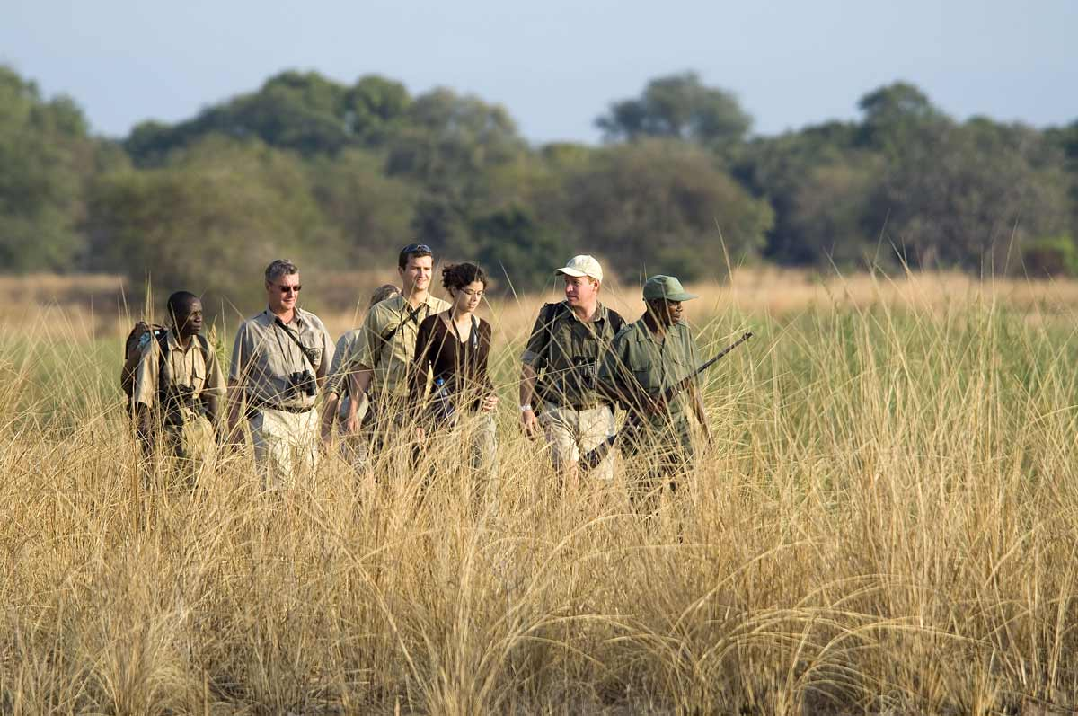 African walking safari