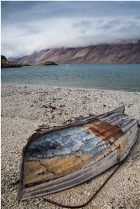A boat in greenland = copyright north winds photography
