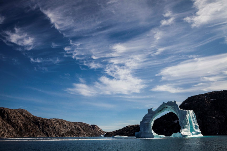 An imprssive ice structure in Greenland