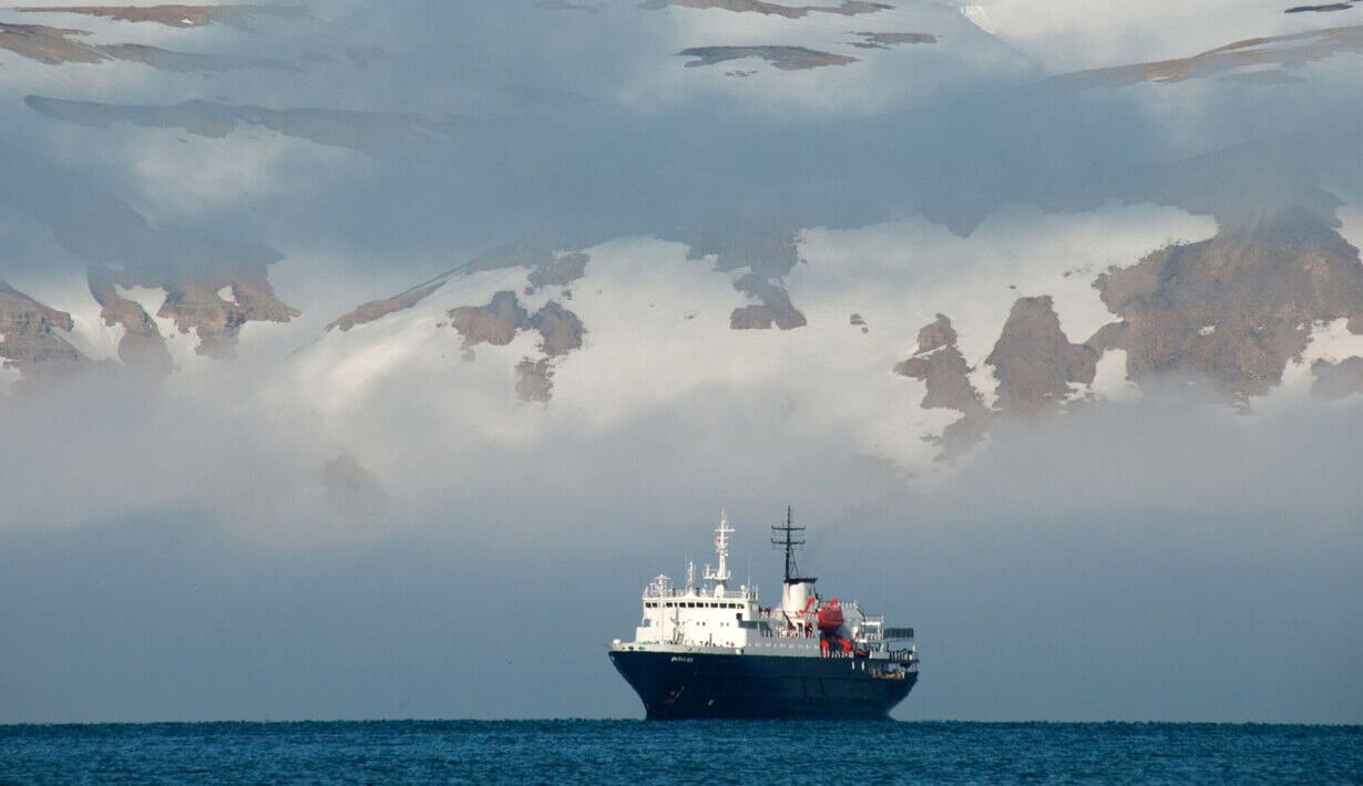 MV Ortelius in the Falklands