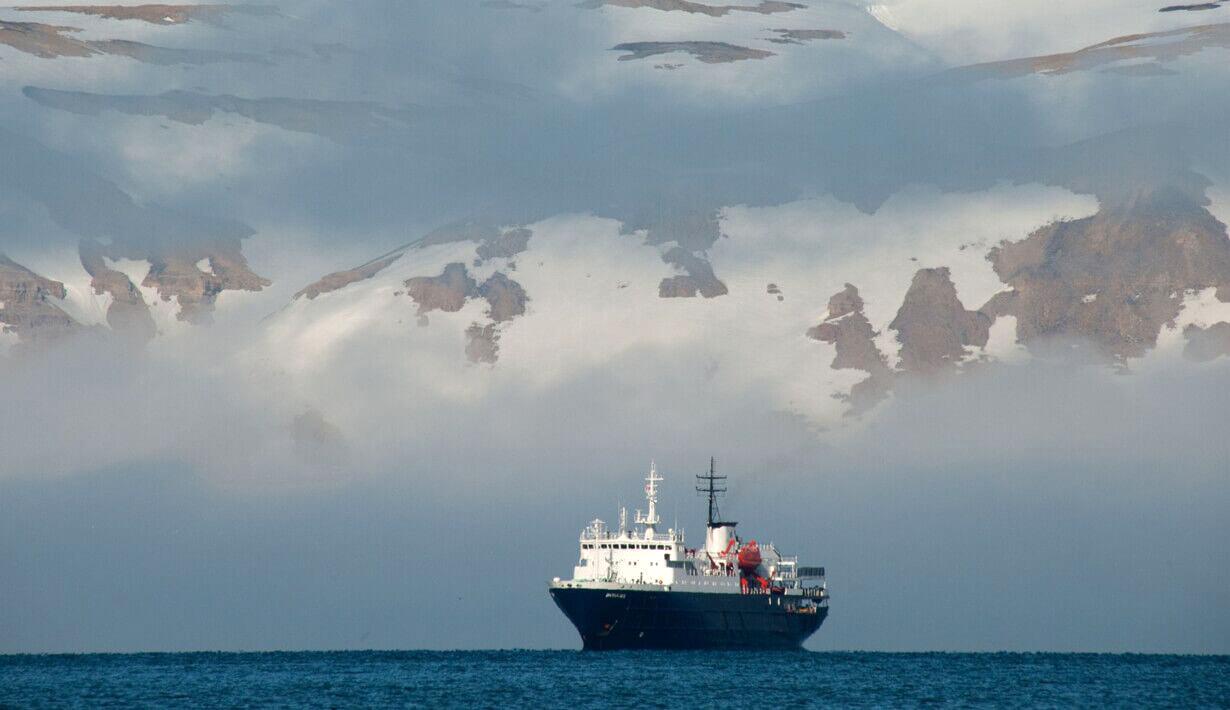 MV Ortelius in the Falklands