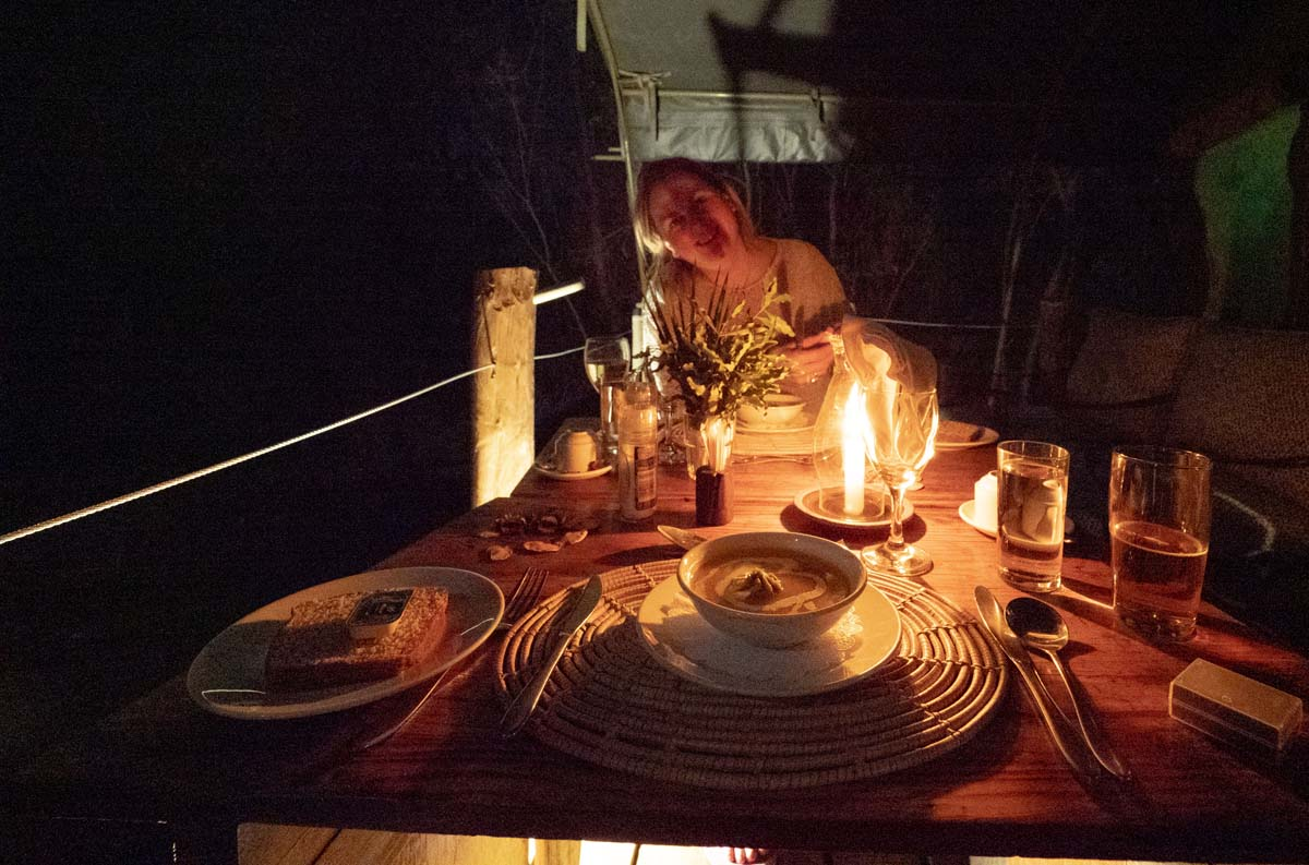 Dinner At Camp Mashatu Botswana