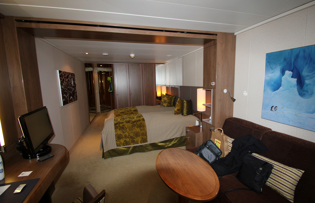 Cabin on an expedition cruise ship in Antarctica