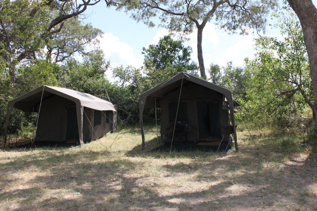 The tent on a mobile safari in Botswana