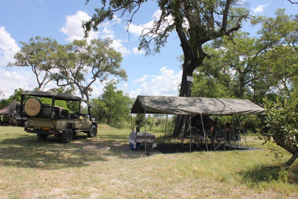 Camping on a mobile safari in Botswana
