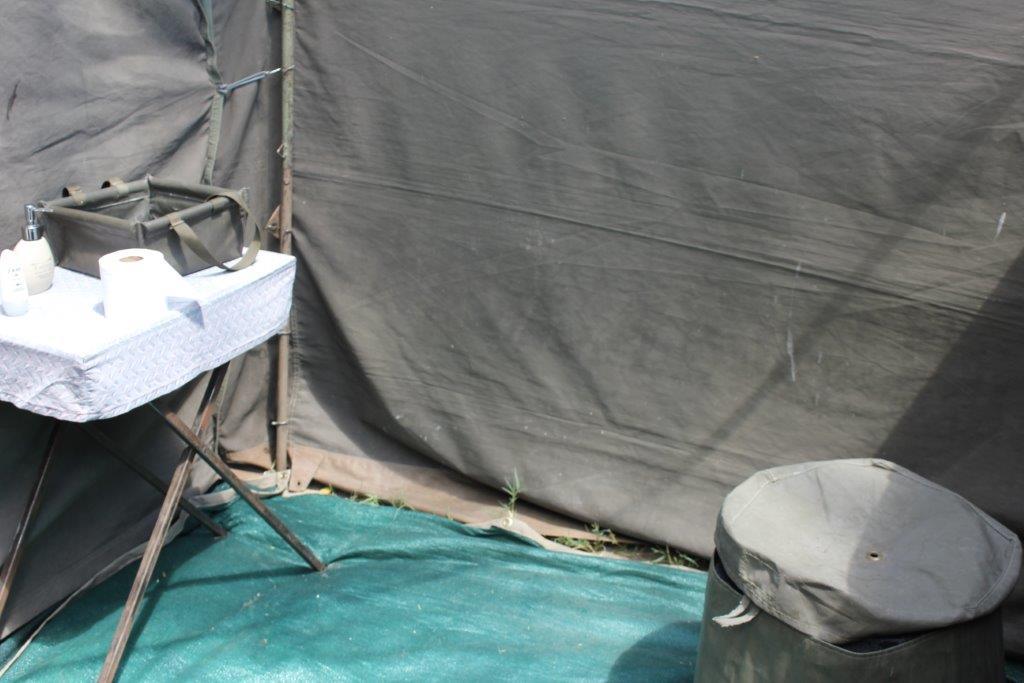 The Toilet o a botswana camping safari