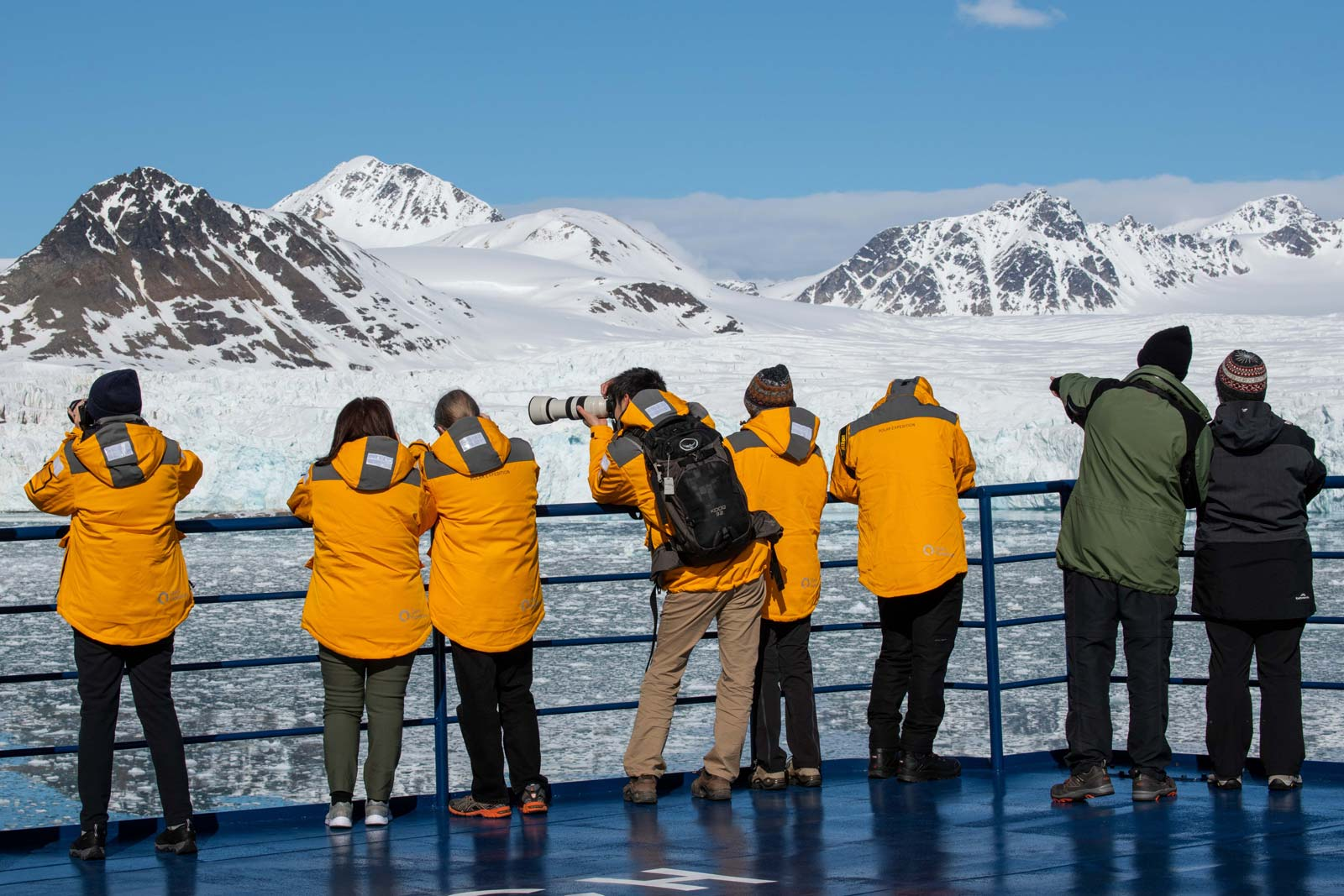 On Deck Aboard An Expedition Cruise In The High Arctic