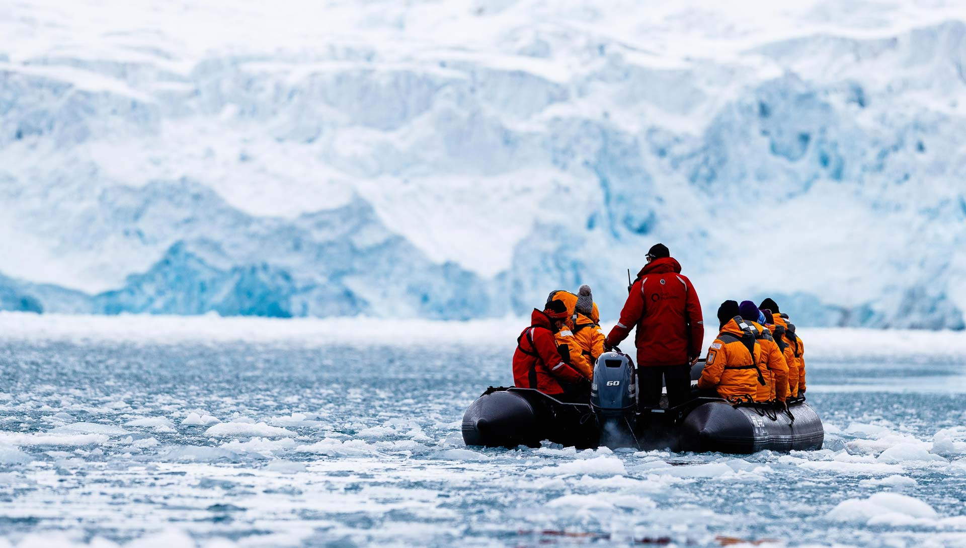 A zodiac in the high acrctic