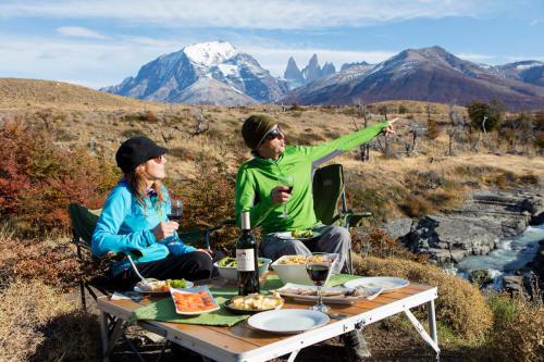 picnic lunch at Camp Patagonia